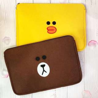🚚 [PO] LINE Friends Laptop Sleeve Cover Case Bag