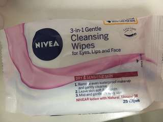 Nivea 3 in 1 cleansing wipes