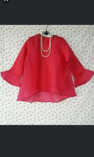 Atasan/blouse organza red