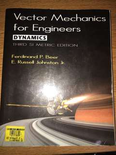 Vector Mechanics for Engineers DYNAMICS - Third SI Metric Edition