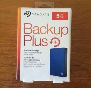 🚚 Seagate 5TB Portable HDD Hard disk drive Backup Plus