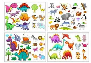 Dinosaur and Animals Tattoo Temporary Tattoo Kid Tattoo Party Tattoo Waterproof Temporary Tattoos For Women Girl Body Art Sleeve DIY Stickers Glitter Tattoo Beauty Exotic