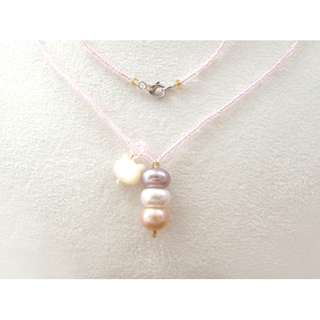 Freshwater pearl with S925 Silver Clasp 天然淡水珍珠