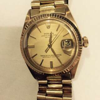 🚚 Rolex Oyster Perpetual Datejust 18k Gold