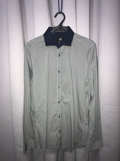 H&M Blue Collar, Gray Polo Shirt