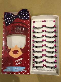 funny girl eyelashes