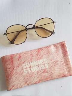 Sunnies Winona Yellow Sunglasses