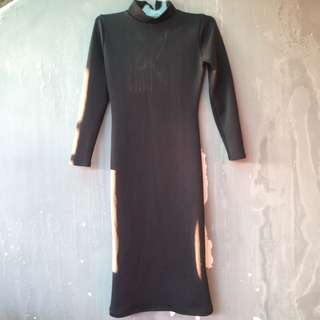 long dress black 7/8
