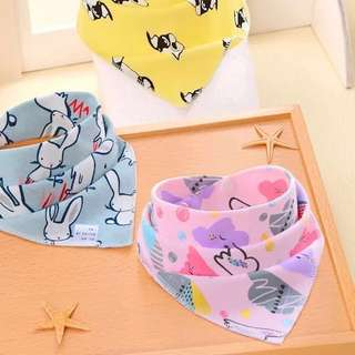 3pcs set Triangle baby BIB