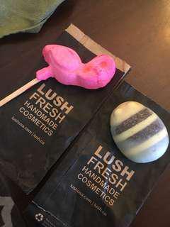 LUSH Bubble bar and Massage/lotion bar