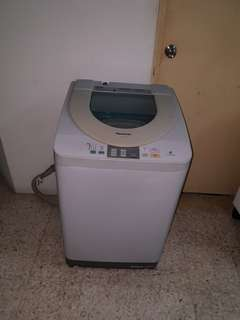 Used Panasonic washer 7.0kg washing machine mesin basuh fully automatic stainless steel drum in good condition