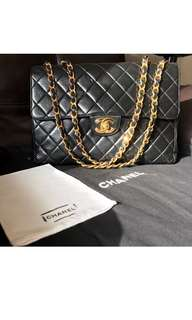 Authentic Chanel Jumbo Vintage Lambskin Single Flap (24K GOLD)