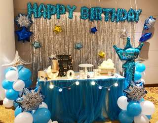 Starry Twinkle Star Theme Balloon Party Decor