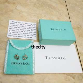 AUTHENTIC TIFFANY & CO. OPEN HEART EARRINGS IN SILVER