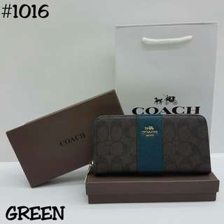 Coach Wallet Green Color