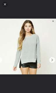 Forever 21 Grey knit pullover