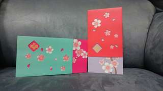 Exquisite Design Red/Purple and Rose/Green Ang Pow Set 2s