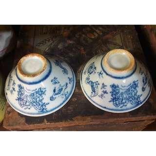 Vintage old cups
