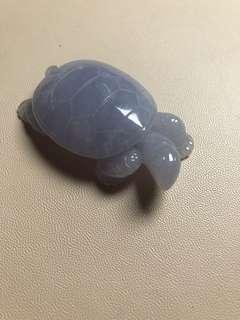 天然翡翠紫羅蘭烏龜🐢擺件