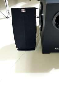 Altec computer speaker and woofer