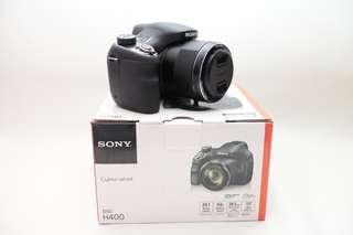 sony H400 63x zoom mulus sprti baru, komplit dengan box dll..