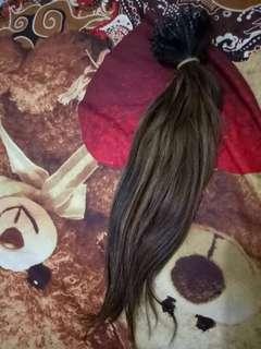 Rambut sambung asli 100% 55cm