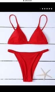 BNWT Zaful red bikini bottoms