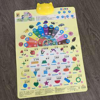 Chinese/English Colour & Shapes Educational Sound Chart