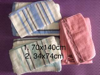 Cotton soft baby towel( 2 size in 1 set-refer picture)