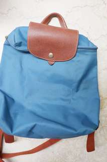 Longchamp Le Pliage Backpack in Blue