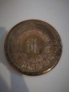 Piring Metal dari Mesir diameter 30cm
