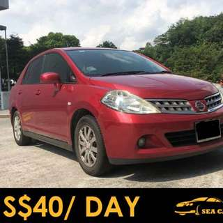 Grab / Personal Use - Nissan Latio For Rental - Long Term Leasing