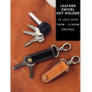 🚚 Leathercraft Workshop - Swivel Key Holder