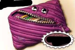 Zip It! Purple Monster Pencil Case