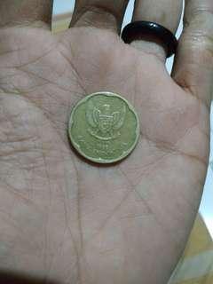 Punya amunisi batu cincin sungai dareh dan uang koin rp 500 th1991