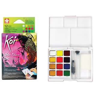 [Pre-Order Listing] Sakura Koi Watercolours - Creative Art Colours - 12 Colours Pocket Field Sketch Box