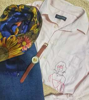 Embroidered Button Up