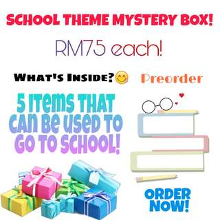 School Theme Mystery Box Stationery Book