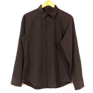 🚚 日系襯衫 COMME CA ISM 涼感襯衫 素面 長袖 彈性 6月