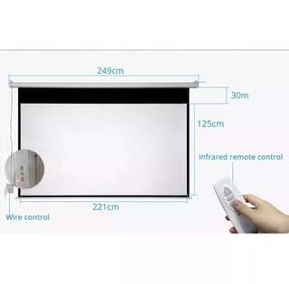 100 inch Motorised Projector Screen 16:9 delivery & Installation included