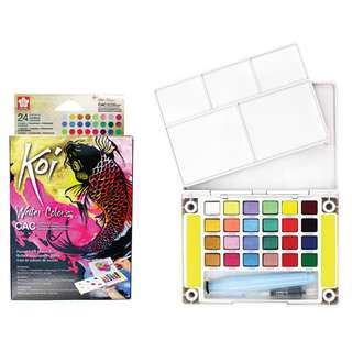 [Pre-Order Listing] Sakura Koi Watercolours - Creative Art Colours - 24 Colour Pocket Field Sketch Box