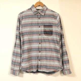 🚚 日系橫條紋 撞色 襯衫 休閒 日本 夏季  6月