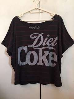 🌻f21 diet coke crop top🌻