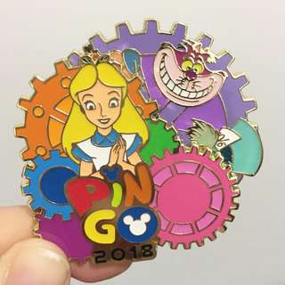 全新 迪士尼 限量版 徽章 愛麗絲