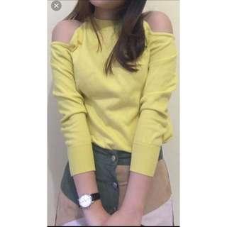Yellow shoulder off