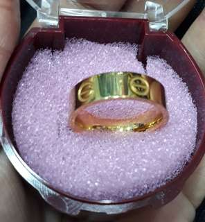 Cincin cartier stainless gold size 7