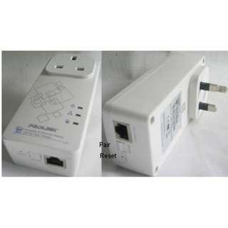Prolink PPL1500P Homeplug pair 500Mbps . Gigabit Lan port . with AC Pass Thru