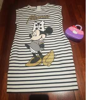 Minnie mouse stripes dress