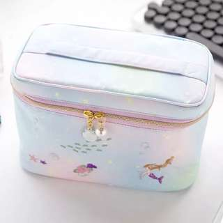 Make up pouch ( mermaid and Cinderella )