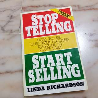🚚 BN self-improvement - Stop Telling, Start Selling